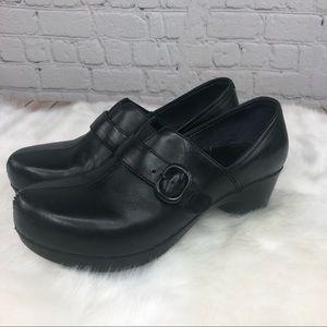 Dansko Black Leather Clogs Nursing Shoes Size 8
